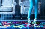 Фотография: смоляной пол с цветами