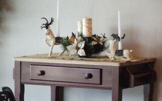 Рисунок 11: Венок и рождественские украшения на столе