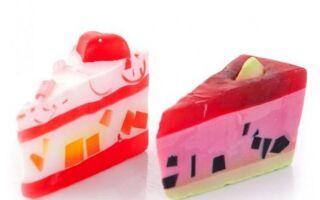 Декоративное мыло с вкусными фигурами