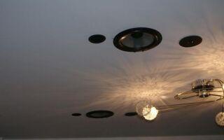 Монтаж колонок в потолке