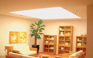 Фото: комната с освещенным потолком