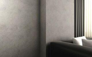 Прохладные индустриальные цвета стен говорят о современности интерьера