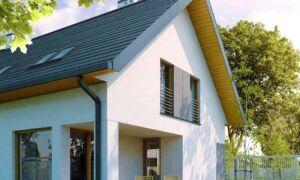 Современный вид крыши — наклеены на квадратные желоба