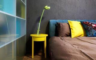 Желтый в спальне