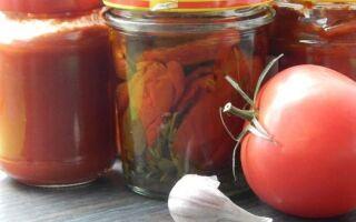 Рецепты для больших томатных консервов