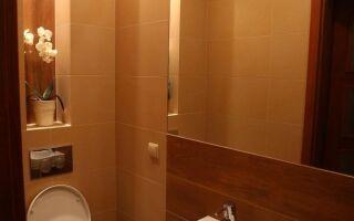 Расположение небольшой ванной комнаты в однокомнатной квартире
