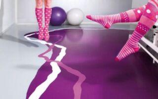 Рисунок 4: Фиолетовый, серый и белый цвета на смоляном полу