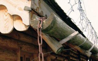 Деревянные желоба