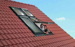 В комплект входит крыша окна Roto Designo