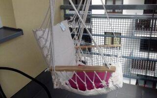Стул гамака — балкон — альтернатива для тех, у кого нет сада, но вы хотите отдохнуть на открытом воздухе