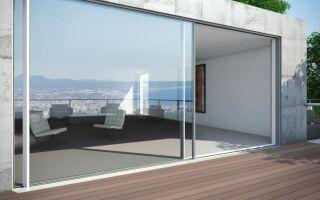 Стеклянные раздвижные двери с хорошей теплоизоляцией