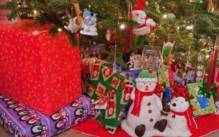 Рисунок 9: Подарки под елкой ждут получателей