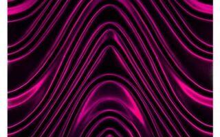Рисунок 8: 3D-фиолетовая волновая стеклянная плитка 600 x 600 мм