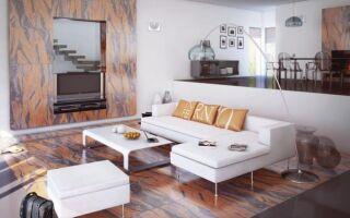 Огромные керамические изделия на стене и полу