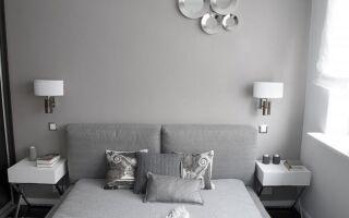 Дизайн монохромной спальни