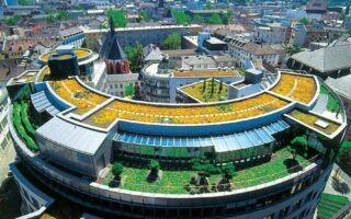 Перевернутая крыша — основание зеленой крыши