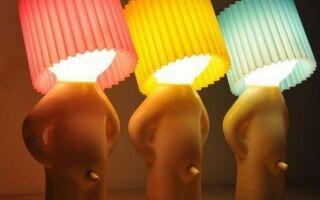 Голая лампа в качестве оригинального гаджета (ФОТО)