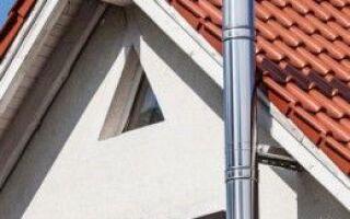 Стальные наружные дымоходы — отделка