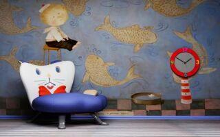 Настенные украшения в детской комнате (фотографии)