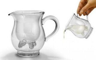 Кувшин для молока или сливок оригинальный и практичный