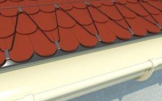 Защита от обледенения водостоков и крыш