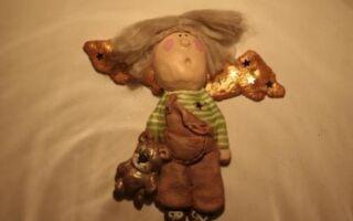 Рисунок 8: Фигура ангела на стене в детской комнате