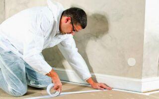 Окраска плоской поверхности: защитить поверхность от грязи и повреждений