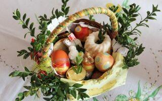 7 продуктов для Пасхи. символы